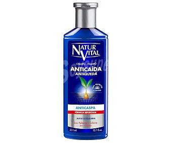 Natur Vital Champu anticaida y anticaspa frasco 300 ml nutre el cuero cabelludo y regula la caspa Frasco 300 ml