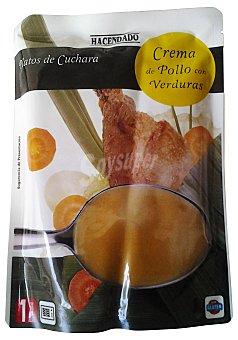 Hacendado Crema liquida pollo y verduras Sobre 330 cc