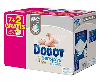 Dodot Sensitive Toallitas para bebe sin perfume 9 x 54 uds