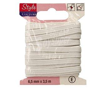 STYLE Cinta elástica flexible color blanco, 6,5 milímetros, 3 metros style