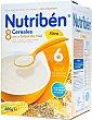 Papillas 8 Cereales con miel-fibra Caja 600 g Nutribén