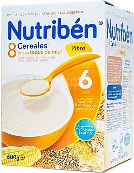 Nutribén Papillas 8 Cereales con miel-fibra Caja 600 g