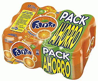 Fanta Refresco de naranja Pack 12x33 cl