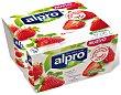 Especialidad vegetal de soja con fresa sin gluten sin lactosa Pack 4 x 125 g Alpro Asturiana
