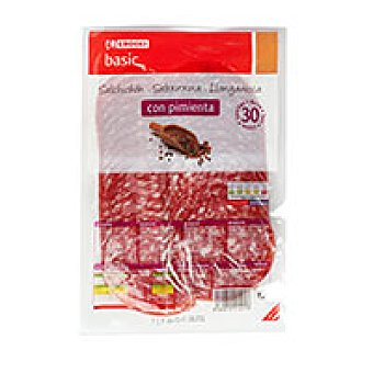 Eroski Basic Salchichón extra con pimienta Sobre 200 g
