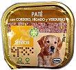 Comida perro senior pate cordero higado verduras Tarrina 300 g Bobby