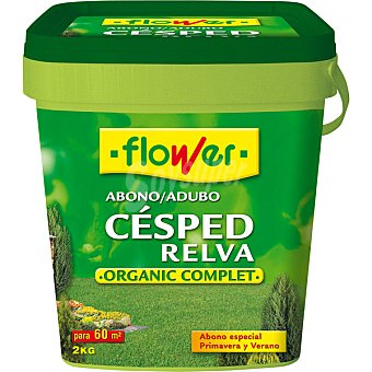 FLOWER 10740 Abono cesped organic complet Envase 2 kg