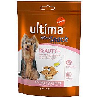 Ultima Affinity Mini Snack Beauty+ para el cuidado del pelaje en los perros con salmón y aceite vegetall Envase 80 g