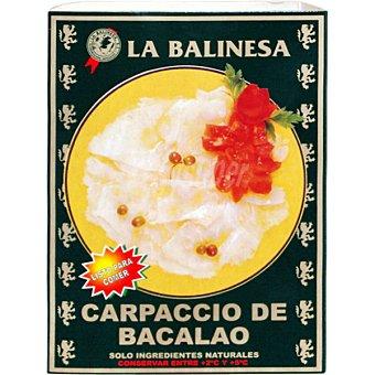 LA BALINESA Carpaccio de bacalao Envase 150 g