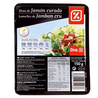 DIA Tiras jamón Envase 150 g
