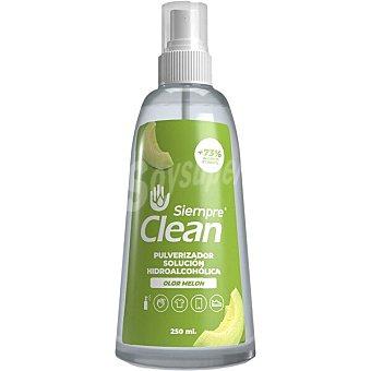 Siempre Solución hidroalcohólica higienizante 73% de alcohol olor melón clean Spray 250 ml