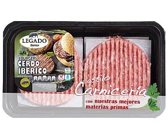EL POZO Burguer ibérica bandeja de 4 unidades (320 gramos)