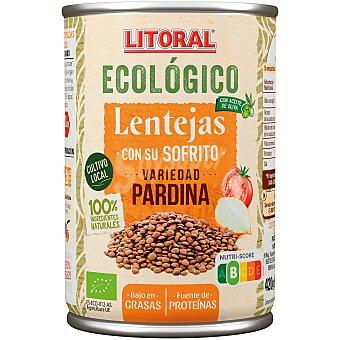 Litoral Lentejas con su sofrito ecológicas Bote 420 g