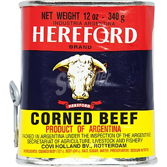 Hereford Corned beef argentino carne vacuna Lata 340 g