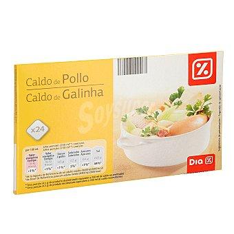 DIA Caldo de pollo en pastillas 24 pastillas x 9 g - 216 g