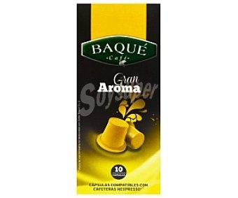 Baqué Café monodosis gran aroma 10 unidades