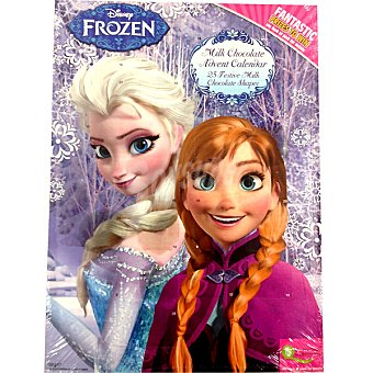 Disney Frozen calendario adviento de chocolate con leche  unidad 65 g