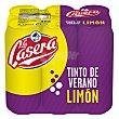Tinto de verano con limón pack 6x33 cl La Casera