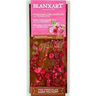 BLANXART Chocolate con leche con frambuesa 100 g