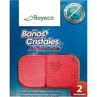 Bayeco Bayeta ecológica baño-crist. 30x40 cm Pack 2 unid