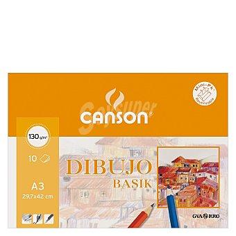 Canson Cuaderno Dibujo Minipack Basik A3 Liso 10 ud