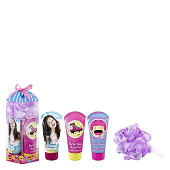 Disney Soy Luna Estuche gel de baño + champú + loción corporal + esponja 1 ud
