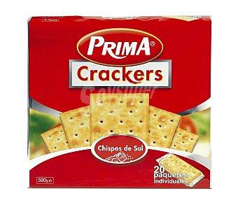 Prima Crackers con chispas de sal Paquete 500 g