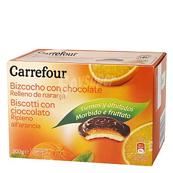 Carrefour Bizcochos con naranja con una fina capa de chocolate 300 g