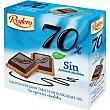 Galletas con tableta de chocolate 70% cacaosin azúcares añadidos 140 gr Reglero