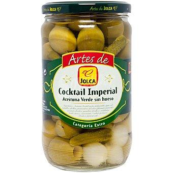 Jolca Cocktail encurtidos (aceituna verde sin hueso, pepinillos y cebolla) Tarro de 360 g