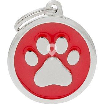 Placa identificativa para collares de perros esmaltada en material analergico envase 1 unidad
