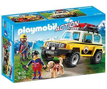Playmobil Escenario de juego Vehículo de rescate de montaña con figura y accesorios, Action 9128 playmobil
