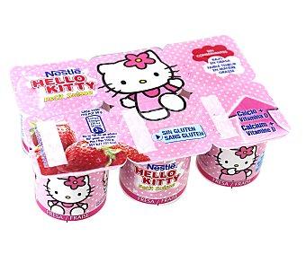 Nestlé Petit fresa Hello Kitty pack de 6x50 g