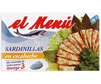El Menu Sardinillas en Escabeche Lata 65 Gramos Peso Escurrido