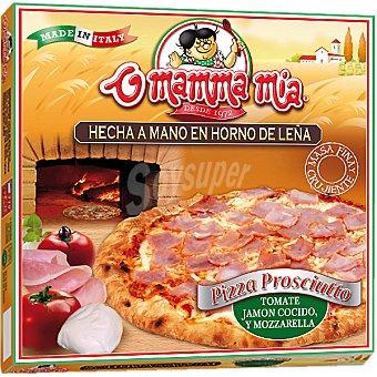 O mamma mia Pizza prosciutto tomate jamón cocido y mozzarella Estuche 420 g