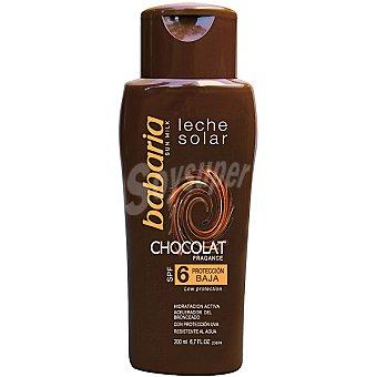 BABARIA leche solar chocolate FP-6 resistente al agua frasco 200 ml