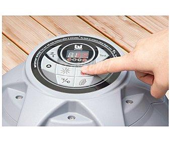 BESTWAY Spa hinchable para 4 personas (2 adultos y 2 niños) modelo Miami con estructura de PVC laminado, función masaje, calentador de agua y depuradora, 180x65 centímetros, 1654.1 litros 1654.1 litros