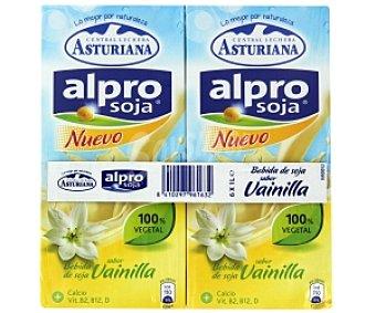 ALPRO Bebida soja sabor vainilla 6 Unidades de 1 Litro