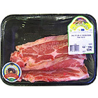 EL CUARTERON Chuletas de aguja (cuello) de cochino negro peso aproximado Bandeja 400 g