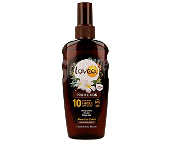 LOVEA Aceite solar en spray con factor protección 10 (bajo) 200 mililitros