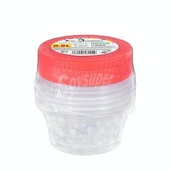 Bosque Verde Recipiente plastico multiusos redondo 0,5 l (rosca) Paquete 3 u