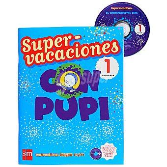 Editorial SM Supervacaciones con Pupi repaso 1º primaria 1 Unidad