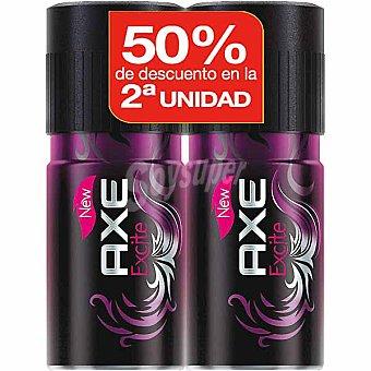 AXE desodorante Excite pack precio especial 2ª unidad al 50%) pack 2 spray 150 ml