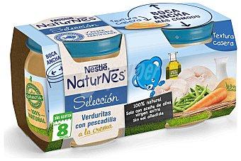 Naturnes Nestlé Tarritos de verduras con pescadilla a la crema especial para bebés a partir de 8 meses 2 unidades de 200 gramos