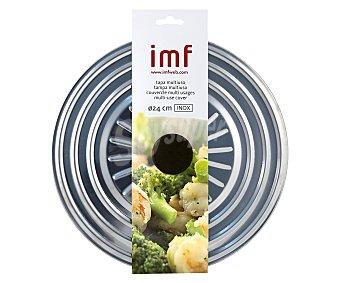 IMF Tapa multiusos fabricada en acero inoxidable con agarrador antitérmico, 24 centímetros de diámetro 1 unidad