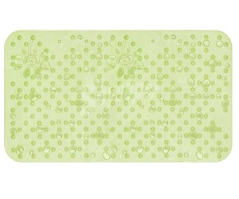 TOYMA Alfombra antideslizante para ducha modelo Gotas, color verde traslúcido, 75x36 centímetros 1 Unidad