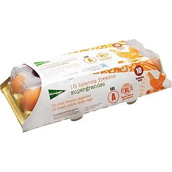 El Corte Inglés huevos blancos morenos clase XL estuche 10 unidades