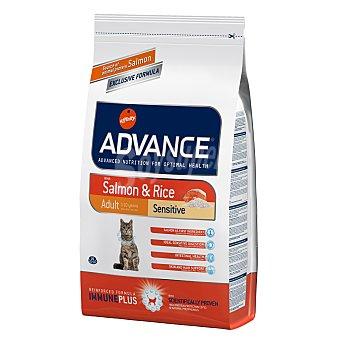 ADVANCE Pienso para gatos Advance Adult Sensitive salmón y arroz 1,5 Kg