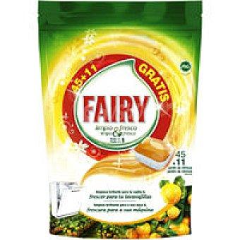 FAIRY Lavavajillas máquina Limpio&Fresco naranja 45+11 dosis