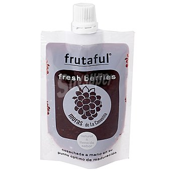 FRUTAFUL zumo pulpa de mora cosechada a mano en su punto óptimo de maduración  botella 85 g